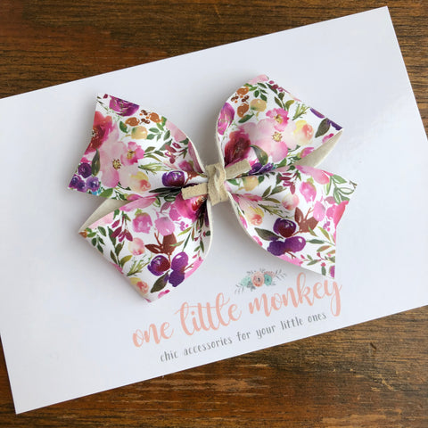 Rich Spring Floral KENNEDY Bow