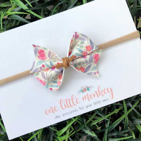 Watercolor Floral RAEGAN Bow