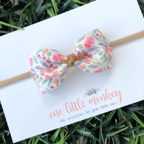 Watercolor Floral HARLOWE Bow