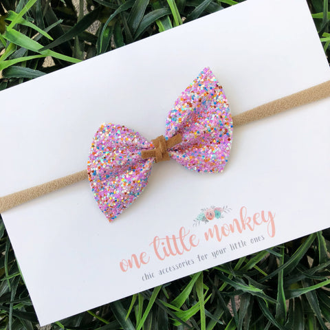 Rose Copper Glitter SUTTON Bow