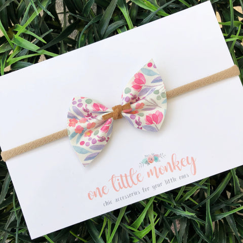 Watercolor Floral SUTTON Bow