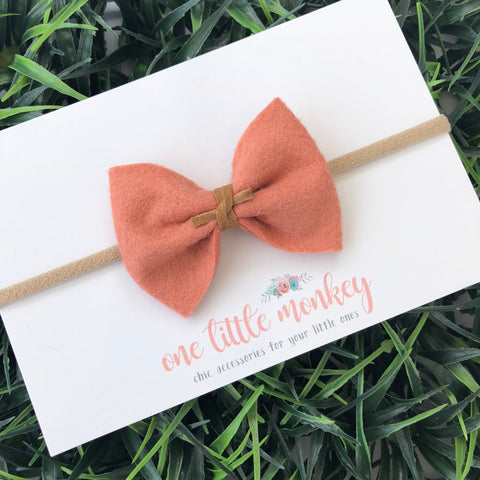 Sunset Wool Felt MILLIE-MINI Bow