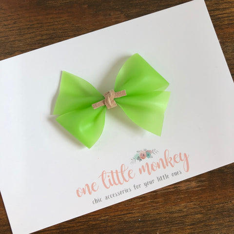 Lime Jelly RAEGAN Bow