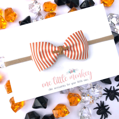 Orange Stripe HARLOWE Bow