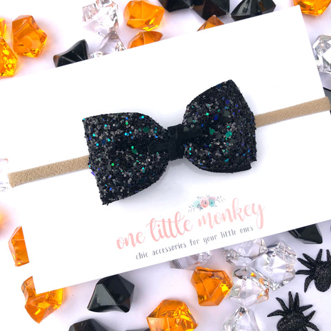 Something Wicked Glitter HARLOWE Bow