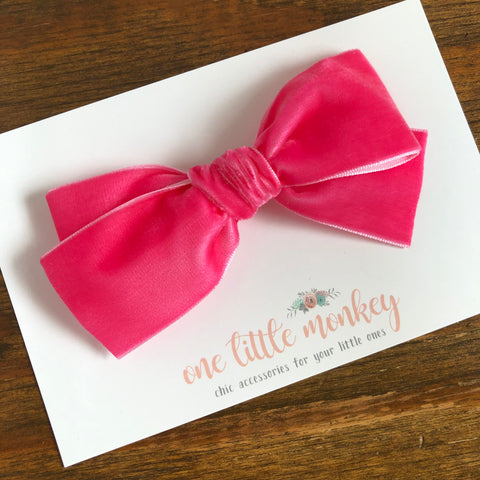 Hot Pink Chunky WILLOW Bow