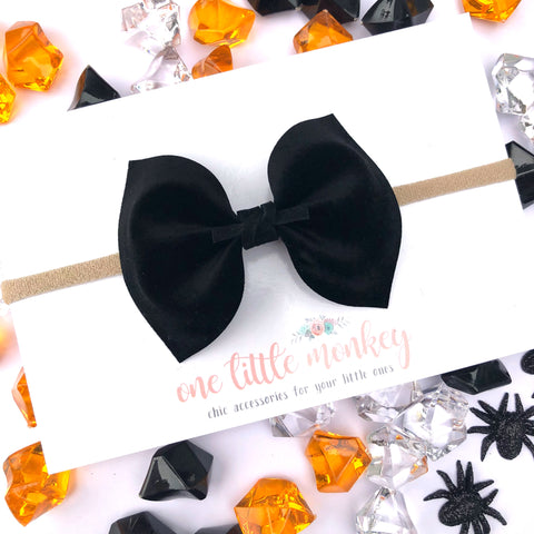 Black Velour MILLIE Bow