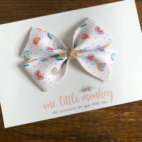 Watercolor Rainbows KENNEDY Bow