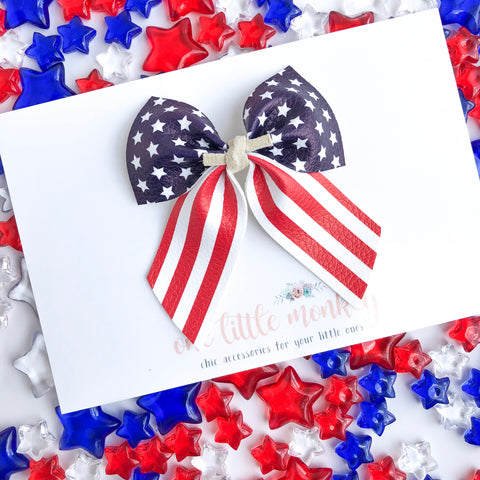 Stars and Stripes PAISLEY Bow