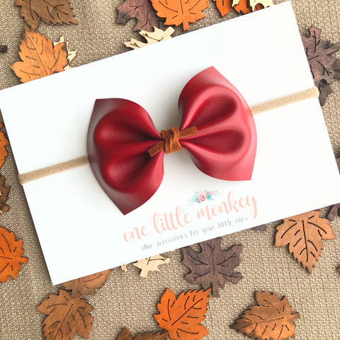Burgundy MILLIE Bow