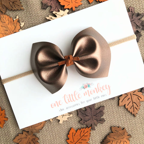 Bronze MILLIE Bow