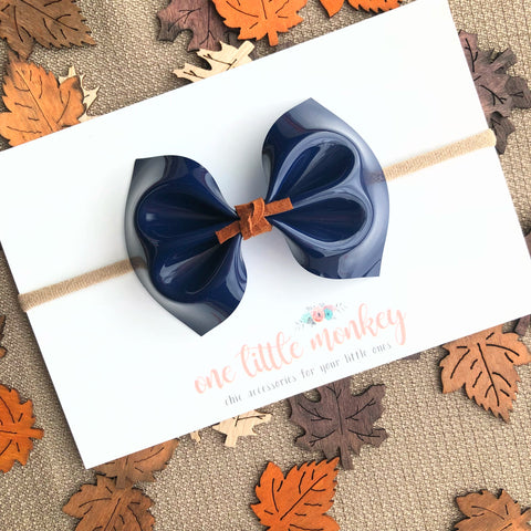 Patent Navy MILLIE Bow