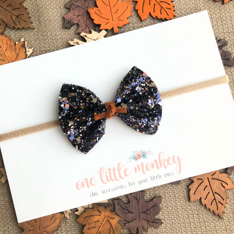 Starry Night Glitter HARPER Bow
