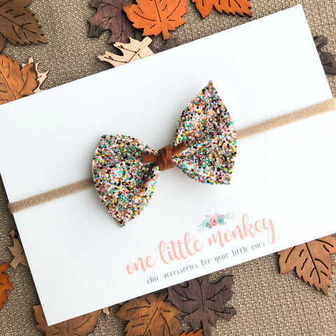 Fall Carnival Glitter SUTTON Bow