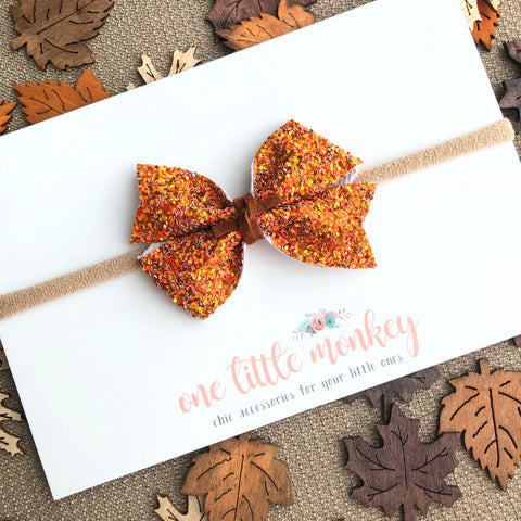 All Spice Glitter RAEGAN Bow