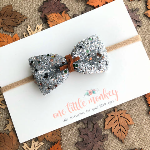 Crisp Autumn Air Glitter HARLOWE Bow