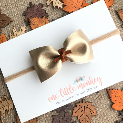 Pale Gold HARLOWE Bow