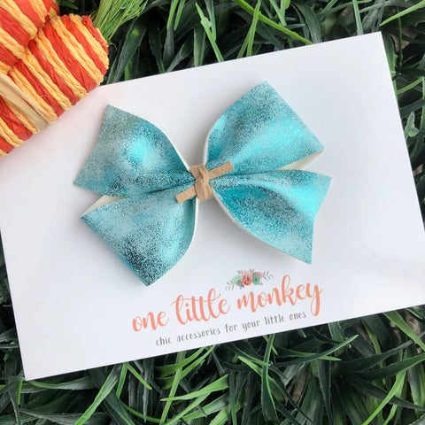 Metallic Blue KENNEDY Bow