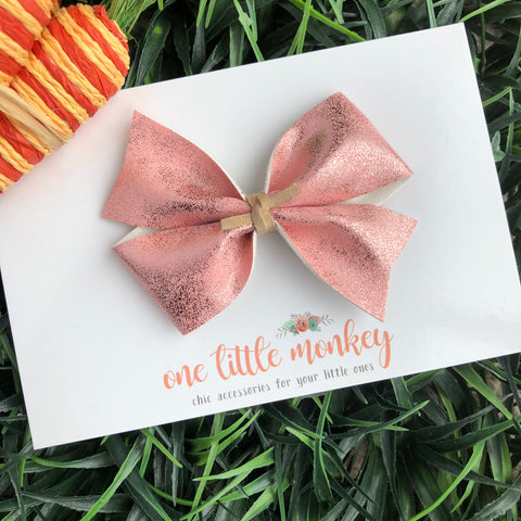 Metallic Pink KENNEDY Bow
