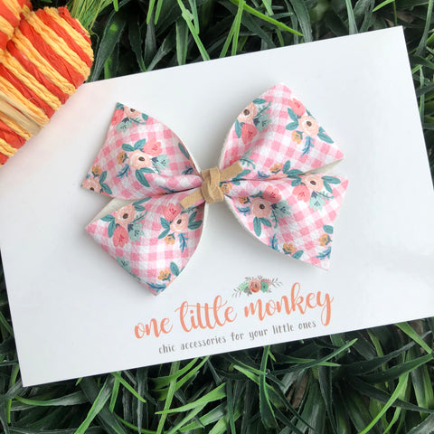 Springtime Gingham KENNEDY Bow