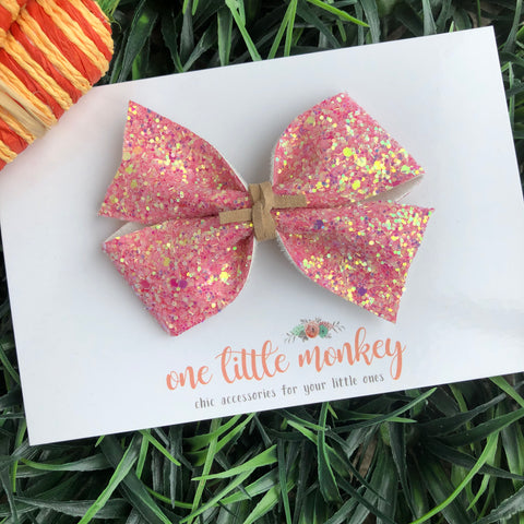 Watermelon Glitter KENNEDY Bow