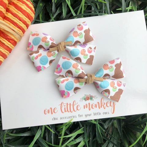 Chocolate Bunnies GILLIE - Set of 2 Piggy Clips