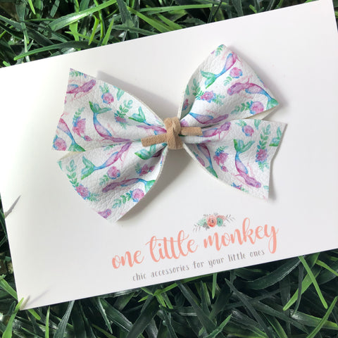 Watercolor Mermaids KENNEDY Bow
