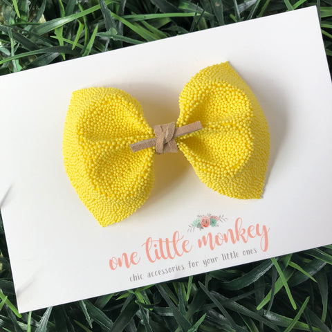 Yellow Sprinkles MILLIE Bow