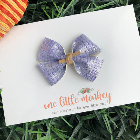 Lavender Basketweave RAEGAN Bow