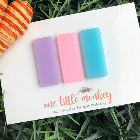 Spring 2020 Acrylic Clips - Set of 3