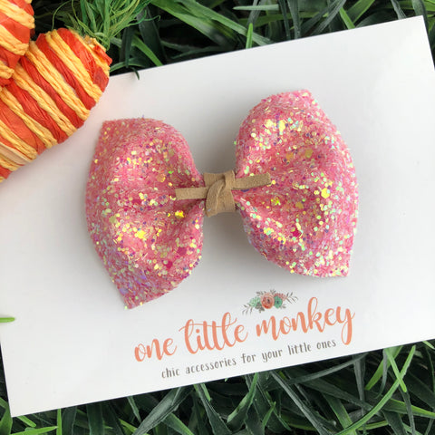 Watermelon Glitter MILLIE Bow