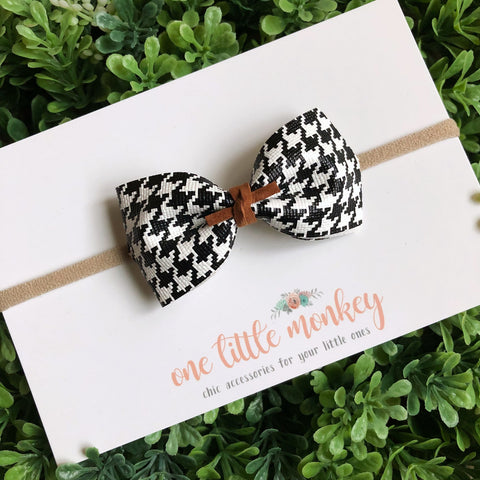 Houndstooth HARLOWE Bow