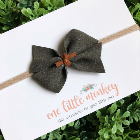 Charcoal Suede RAEGAN Bow