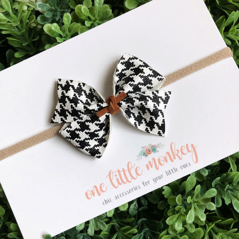 Houndstooth RAEGAN Bow