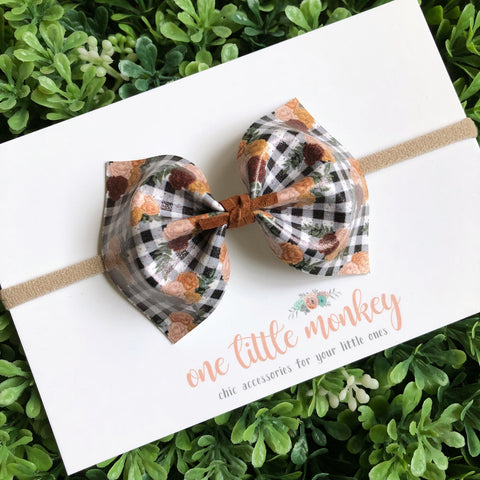 Buffalo Plaid Bouquet MILLIE Bow