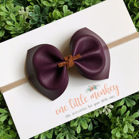 Perfect Purple MILLIE Bow