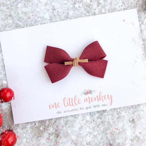 Currant Suede GILLIE Bow