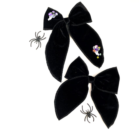 Black Velvet ETHEL Bow - Available on Clips Only