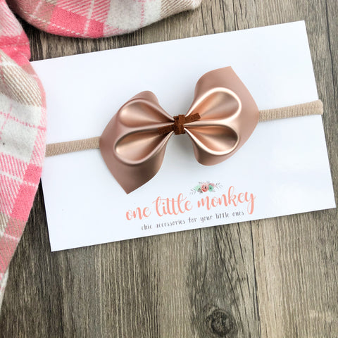 Matte Rose Gold DARCY Bow