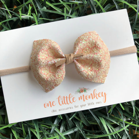Honeycomb Glitter MILLIE Bow