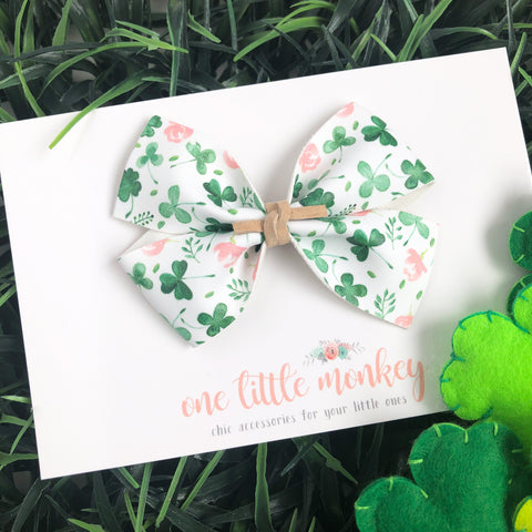 Shamrocks + Floral KENNEDY Bow
