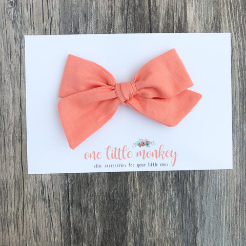Salmon Hand-Tied NORAH Bow