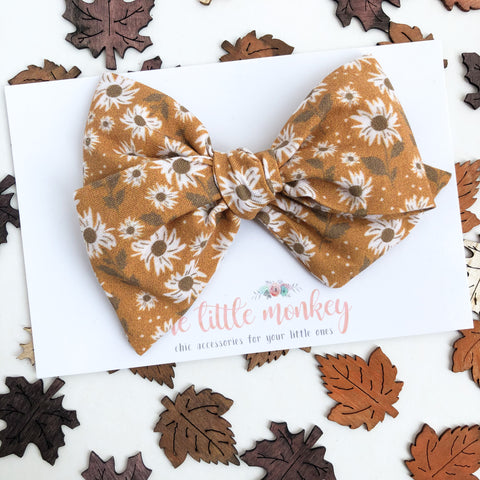Autumn Wildflowers Hand-Tied MADISON Bow