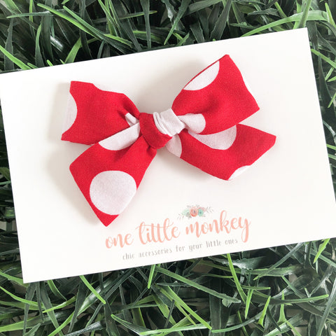 Red Dot Hand-Tied NORAH Bow