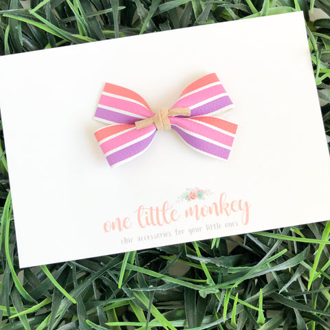 Candy Stripes GILLIE Bow