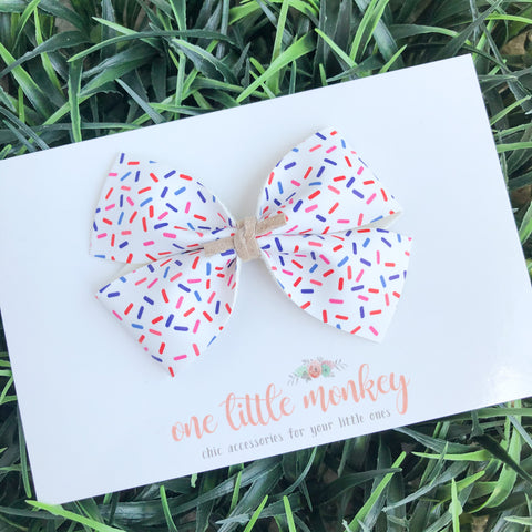 Patriotic Sprinkles KENNEDY Bow