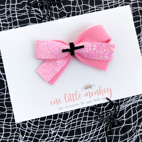 Pink Stars GLAM DOROTHY Bow - Glows in the Dark!