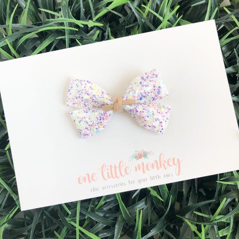 Egg Hunt Glitter GILLIE Bow