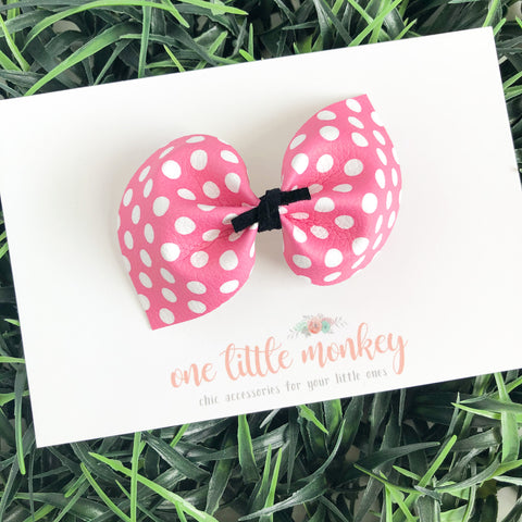 Pink Dot DARCY Bow
