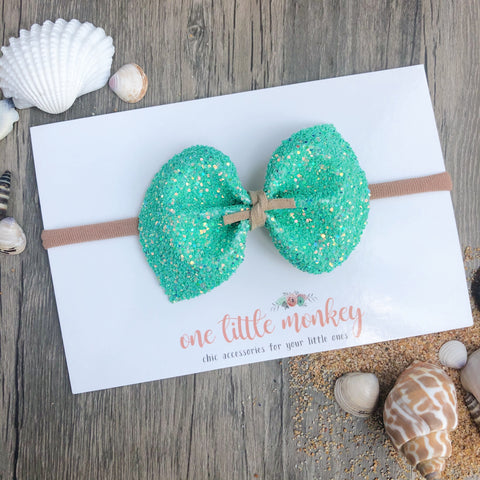 Seaside Glitter DARCY Bow